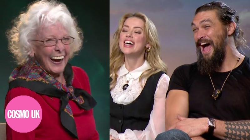 Adorable Grandma interviews Jason Momoa and Amber Heard for Aquaman | Cosmopolitan UK