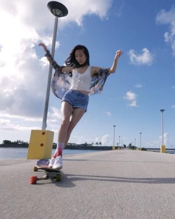 "Instagram on Instagram: ""Video by @hyo_joo In 2014, Hyojoo Ko (@hyo_joo) hopped on a longboard for the first time as a way to unwind. ""I was burnin..."