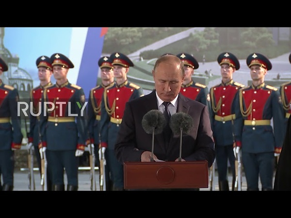 Russia Putin attends blessing of foundation stone of Russian Army's future cathedral
