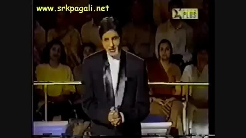 SRK on KBC with Amitabh Bachchan 2002
