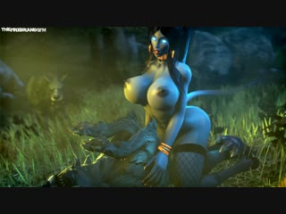 Rule 34 - 3d animated breasts canine cowgirl position draenei female horns large breasts male nipples sex sound source filmmaker