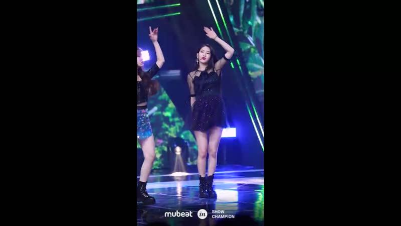 · Fancam · 180919 · OH MY GIRL (Jiho focus) - Remember Me (Pre-recording) · MBC Music Show Champion ·