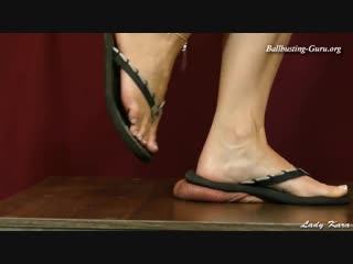 Lady kara cock crush / foot fetish