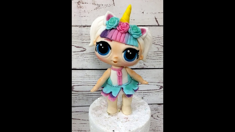 кукла LOL из мастики ( Cake LOL Surprise! How to make LOL Surprise Doll cake topper)