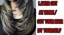 How I Layer Cut My Hair At Home | Step by Step Easy Hair Cut At Home | Long/Medium Hair