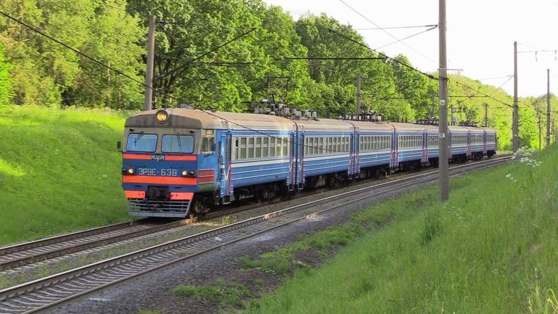 БЧ Электропоезд ЭР9Е 638 на о п Роща BCh ER9E 638 EMU at Roshcha stop