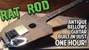 DEMO Antique Bellows Rat Rod Guitar with Wickedbucker Pickup