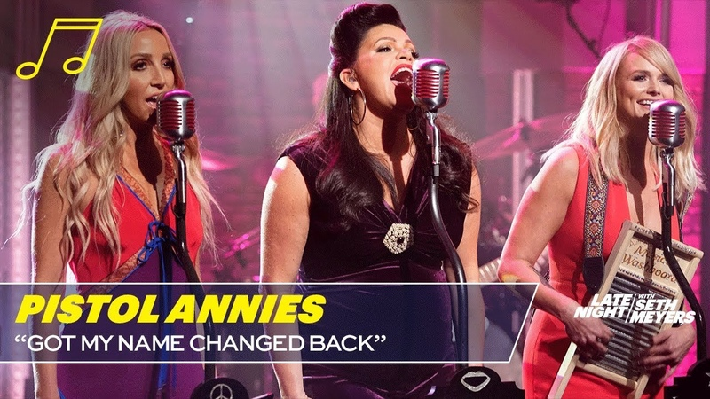 Pistol Annies - Got My Name Changed Back (Late Night with Seth Meyers)