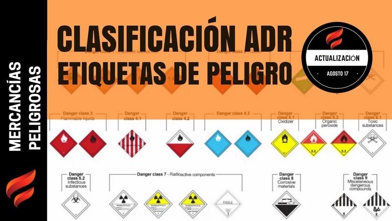F2f MMPP 5 (versión 2017), Clasificación ADR y etiquetas de peligro
