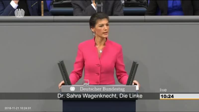 Dr- Sahra Wagenknecht -Linke-- -Sie brauchen sich nicht wundern- dass die AfD so stark ist-