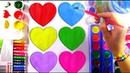 СЕРДЕЧКИ Раскраски для Детей Торт - радуга Герои в масках Гекко Раскрасим Вместе