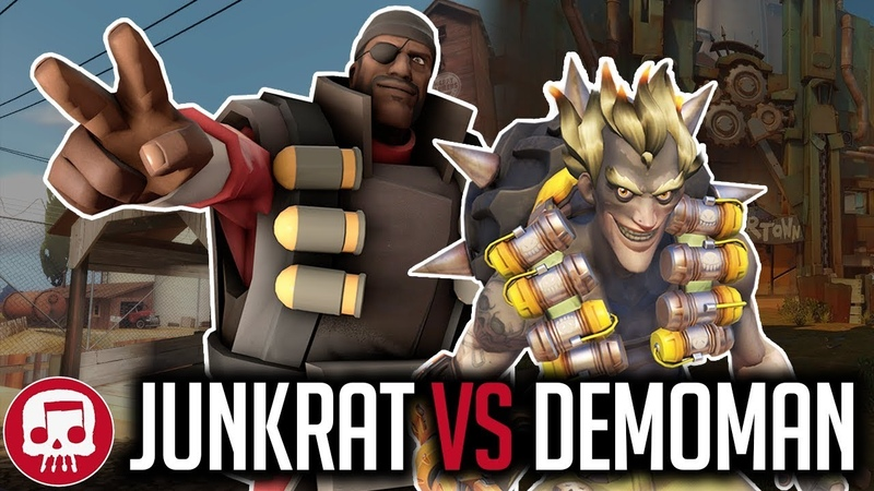 JUNKRAT VS DEMOMAN RAP BATTLE by JT Music (Overwatch vs TF2)