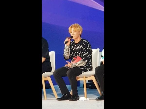 [180914] 유앤비(UNB) 청춘해 토크콘서트 🎵 의진, 꿈을 이룬다는것 (Euijin's talk)