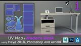 UV Map a Modern Desk and Assets using Maya 2018