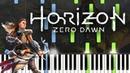 Horizon Zero Dawn Theme (Piano Cover / Tutorial with Midi Sheet Music)