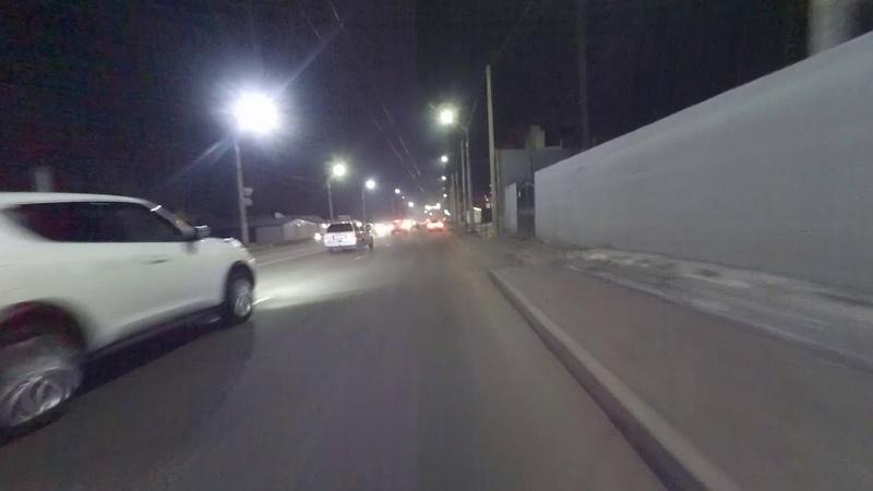 Алматы Велосипед Зима 18 января вечер