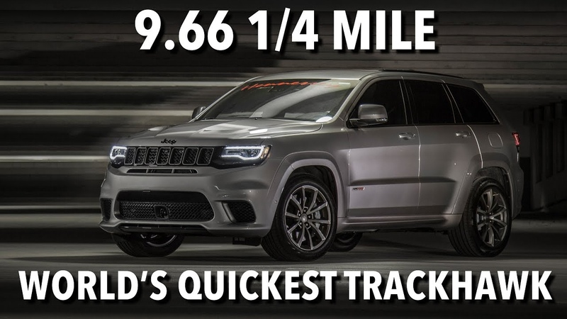 9.66 @ 145 mph Jeep Trackhawk World Record 14 Mile Run