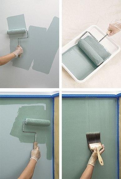 Варианты покраски стен