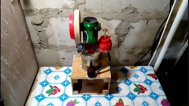Модернизированная модель двигателя Стирлинга