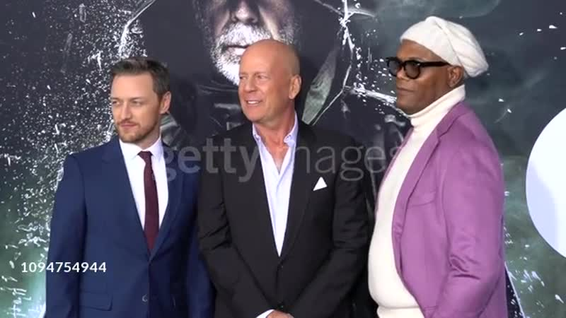 James McAvoy, Bruce Willis, Samuel L. Jackson at 'Glass' New York Premiere