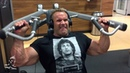 Jay trains delts and hams at EOS Fitness Las Vegas