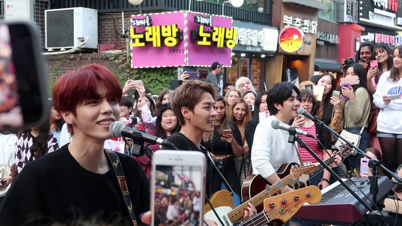 180928 Hongdae Busking The Rose 더로즈 좋았는데