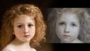 Как написать портрет Этюд Девочка с книгой William Adolphe Bouguereau