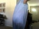 Crossdresser wearing new nightie and playtex 18 hour corselette gartered nylon stockings