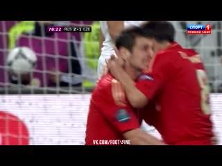 Гол Дзагоева в ворота Чехии!