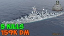 World of WarShips Atlanta 5 KILLS 159K Damage - Replay Gameplay 1080p 60 fps