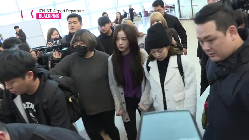 190118 BLACKPINK @ Incheon airport (Korea) to Soekarno-Hatta airport (Jakarta, Indonesia)