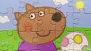 Щенок Дэнни из Свинки Пеппы собираем пазлы для детей Merry Nika