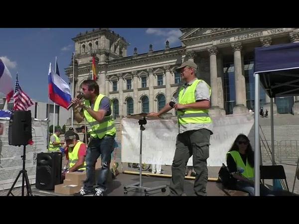 Sven Liebich vor dem Reichstag Gelbewesten live aus Berlin 1. Juni 2019