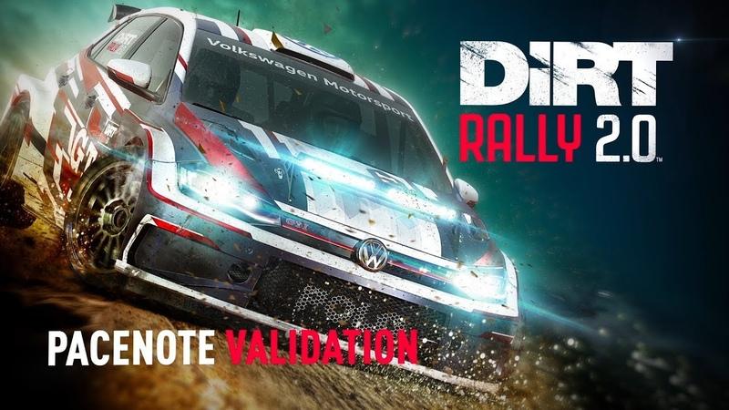 Pacenote Validation DiRT Rally 2 0 Dev insight series
