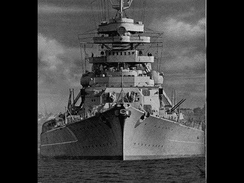 Тирпиц Tirpitz линкор типа Бисмарк Кригсмарине