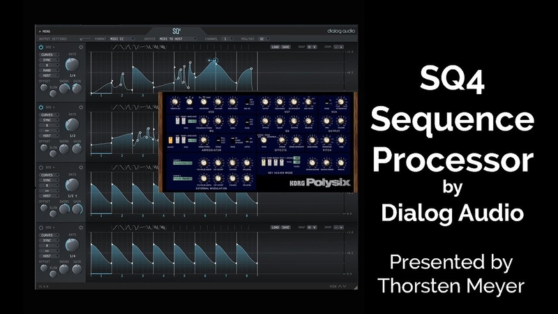 SQ4 Sequence Processor and KORG Polysix