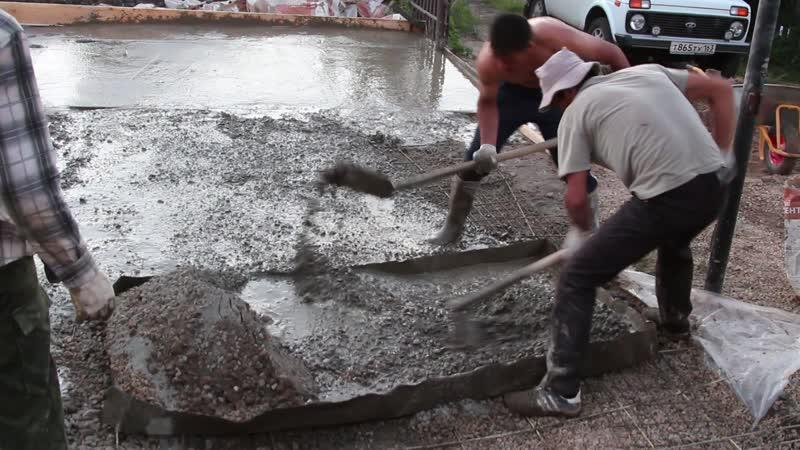 ЗАЛИВКА БЕТОНА, Самара 2014.07.01 (А нужна ли бетономешалка?