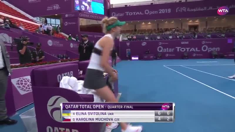 @ElinaSvitolina claims victory at the @qatartennis Defeats Muchova 6 4 6 2 to book her place in the semifinals