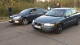 Skoda Octavia vs Volvo S60, Opel Omega, BMW E39. ШКОДА ОКТАВИА против... кто кого  BMW E30=дым.