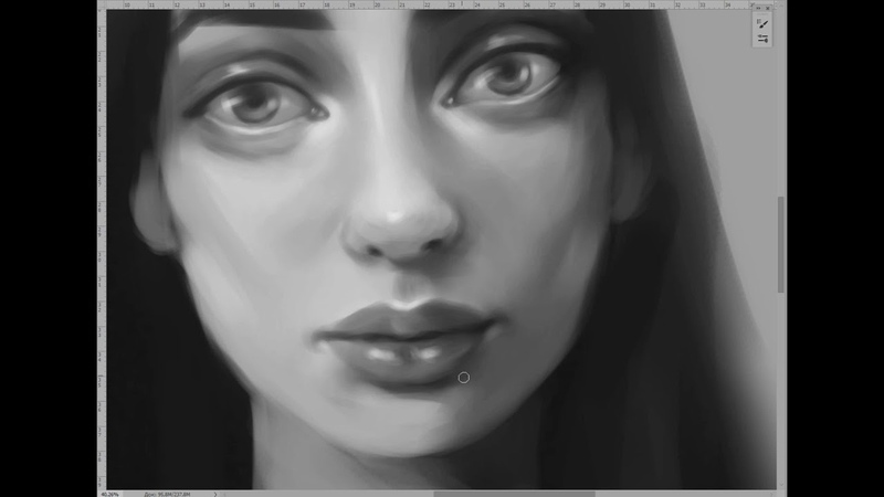 Небольшой фрагмент создания портрета при реальной скорости