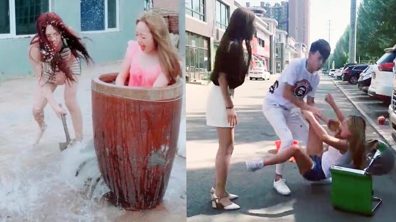 Coi là cười toét miệng p14 troll ngu đường phố Chinese j🤪ke