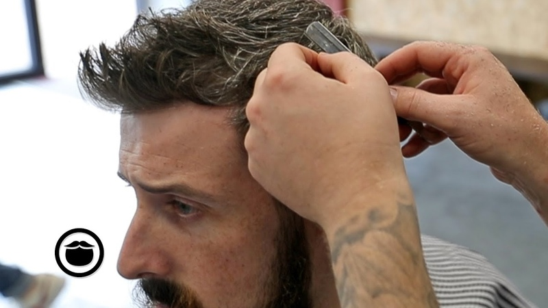 Blended Razor Textured Haircut with Low Cheek Line Beard Trim