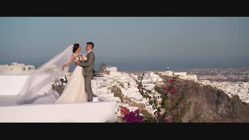 Cказочная свадебная церемония Ореста и Зинаиды на Санторини, Греция