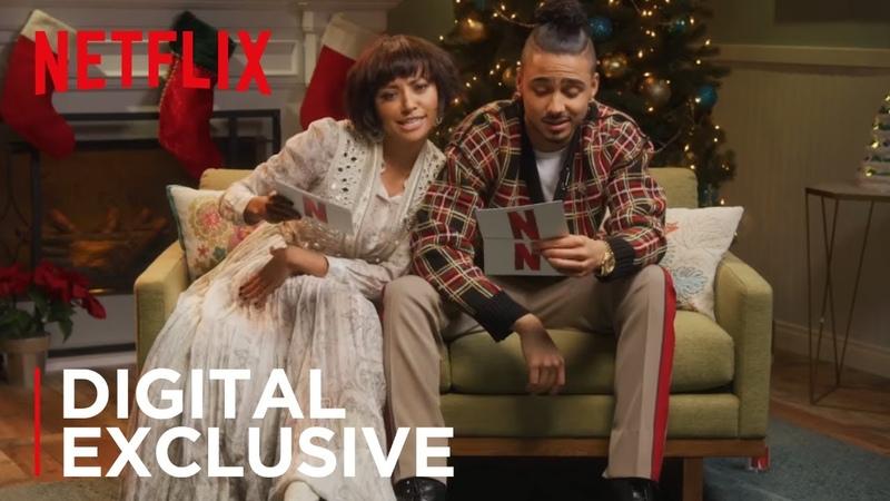 Kat Graham Quincy Brown Crazy Christmas Carol Reading | The Holiday Calendar | Netflix