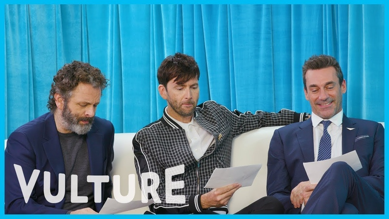 Jon Hamm, David Tennant, Michael Sheen Perform Dueling Hamlets