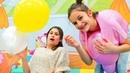 Balon Challenge. Ayşe ve Asu Ela ile eğlenceli balon oyunları! Komik çocuk videoları