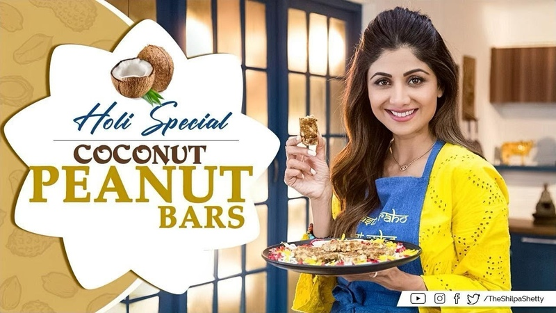 Holi Special Coconut Peanut Bars | Shilpa Shetty Kundra | Healthy Recipes | The Art of Loving Food