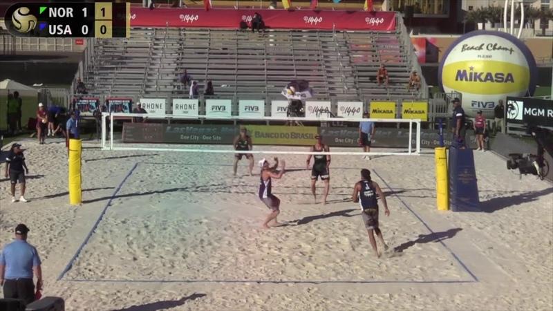 Semi Final 2018 FIVB/P1440 Las Vegas 4 Star Mol.A/Sørum (NOR) vs. Bourne/Crabb (USA)