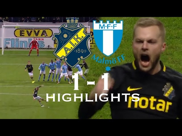 AIK vs Malmö FF 1 1 Highlights 29 10 2018 Allsvenskan
