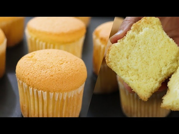 How to make fluffy Cupcake / 카스테라컵케이크만들기/No butter cupcake